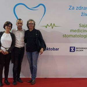 Il team del Centro Ardent alla Fiera della Medicina e dell'Odontoiatria Medident, Belgrado